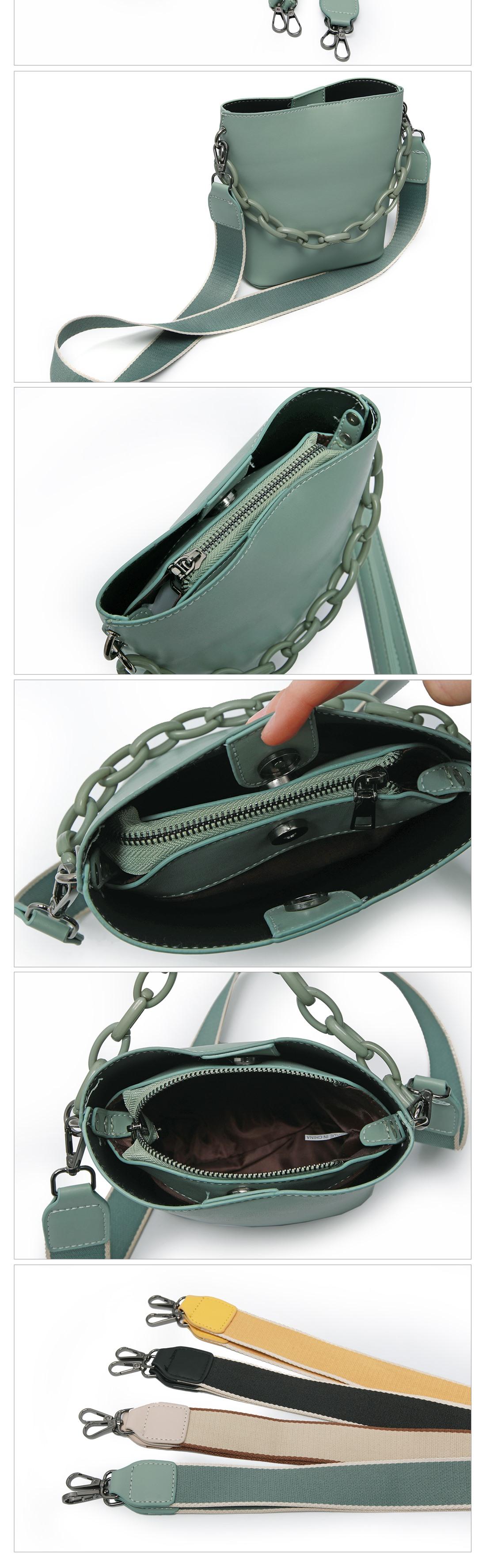 Chunky Chain Bucket Bag-Holiholic